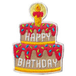 Happy Birthday Cake Fun Patch