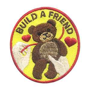 Build a Friend Patch. Whether you are going to a store to build a friend or using kits at a troop meeting or service unit event for your scouts to create their own stuffed animal, the Build A Friend patch from MakingFriends®.com is sure to be a hit. via @gsleader411