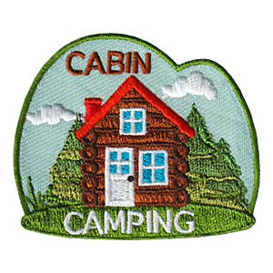 Cabin Camping Patch -- Sky from MakingFriends®.com. 
