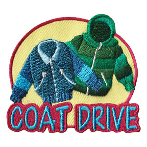 Coat Drive Patch -- Oval. 