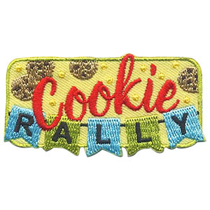 Cookie Rally Patch -- Flags. There is no better way to start cookie season than with a cookie rally. And there is no better way to add to the excitement than with this bright and fun Cookie Rally patch from MakingFriends®.com! via @gsleader411