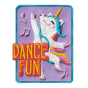 Dance Fun Patch Unicorn