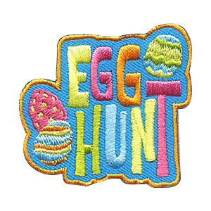 Egg Hunt Patch -- Eggs. Hosting an egg hunt for a younger group or going to one? Remember the day with this brightly colored Egg hunt patch from MakingFriends®.com! via @gsleader411