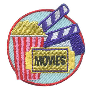 Movies Patch. Rent a movie or go to the theater with your troop. Don't forget the popcorn! The Movies patch from MakingFriends®.com will be a great surprise after a fun night out. via @gsleader411