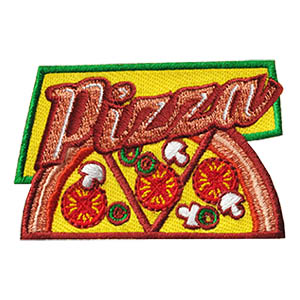 Pizza Patch -- Slices. The Pizza patch from MakingFriends®.com is a great little keepsake for your pizza tour or pizza party. via @gsleader411