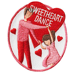 Sweetheart Dance Patch. The Sweetheart Dance Patch from MakingFriends®.com makes a great reminder of your troop or service unit scout and special guy dance. via @gsleader411
