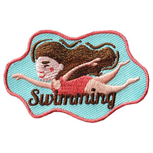 Swimming Fun Patch Girl