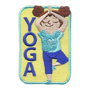 Yoga Girl Patch -- Yellow. Beginners to experts will find their inner peace with our yoga patch. Teach your girls about keeping a healthy body and mind through yoga and share this patch from MakingFriends®.com as a reminder. via @gsleader411