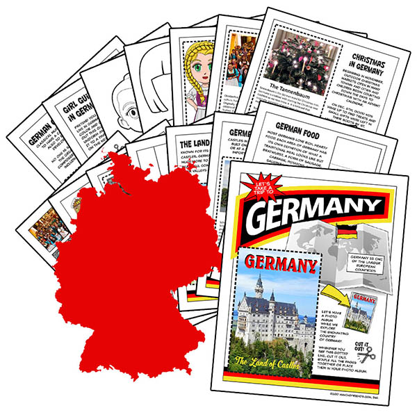 Germany International Download. This fifteen-page download is packed with 13 different activities to teach your girls all about Germany. Pick the ones that are right for your group or do them all! Available at MakingFriends®.com. Perfect for Thinking Day. via @gsleader411