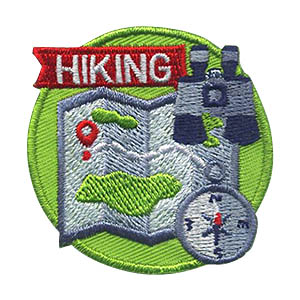 Hiking Patch -- Map. Teach your scouts some basic hiking skills.  See our suggested hiking skills below. This Hiking Patch from MakingFriends®.com is a great reminder of the skills they learned and fun they had on their hike.  via @gsleader411