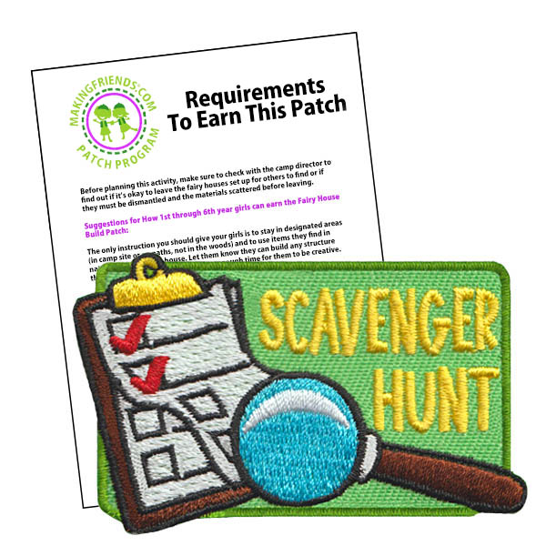 Girl Scout Scavenger Hunt Fun Patch