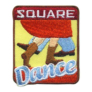 Square Dance Patch -- Square. Kick your heels up and have some fun with your scouts! This brightly colored Square Dance Patch from MakingFriends®.com is perfect after your service unit or troop square dance.  via @gsleader411