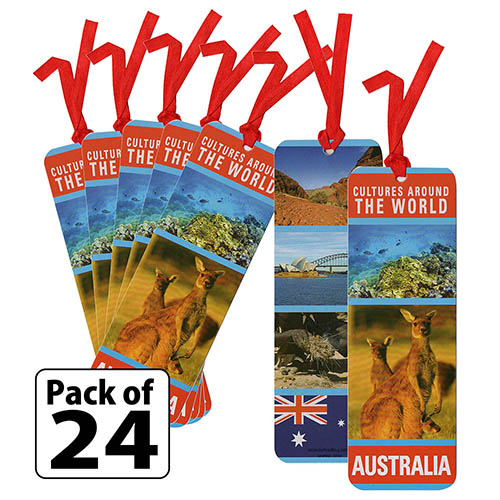 Australia Culture Bookmarks. Learn about the culture of Australia with laminated bookmarks you can hand out at an international event. Available in packs of 24 at MakingFriends®.com. via @gsleader411