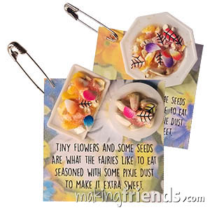 Fairy Food Friendship Swap Kit. Make a few extra friendship swaps in case you see some hungry fairies! Kit makes 24. Available at MakingFriends®.com via @gsleader411