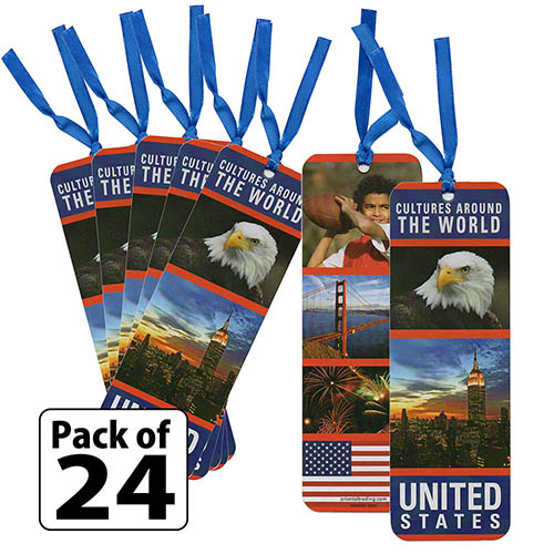 Laminated United States Bookmarks
