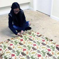 Girl Scout Tie Fleece Blanket