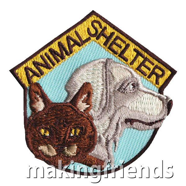 Animal Shelter Patch from MakingFriends®.com. Scouts of every age will love this patch from MakingFriends®.com after visiting their local animal shelter. #makingfriends #scoutpatches #girlscouts #scouts #juliettescouts via @gsleader411