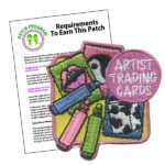 Girl Scout Artist Trading Card Patch Program