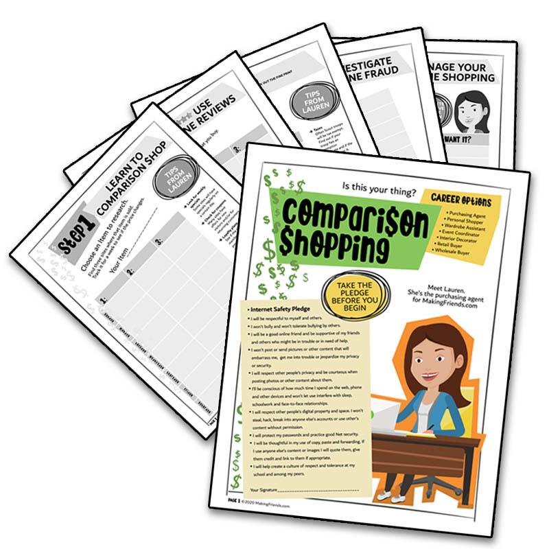 Girl Scout Cadette Comparison Shopping Badge Download