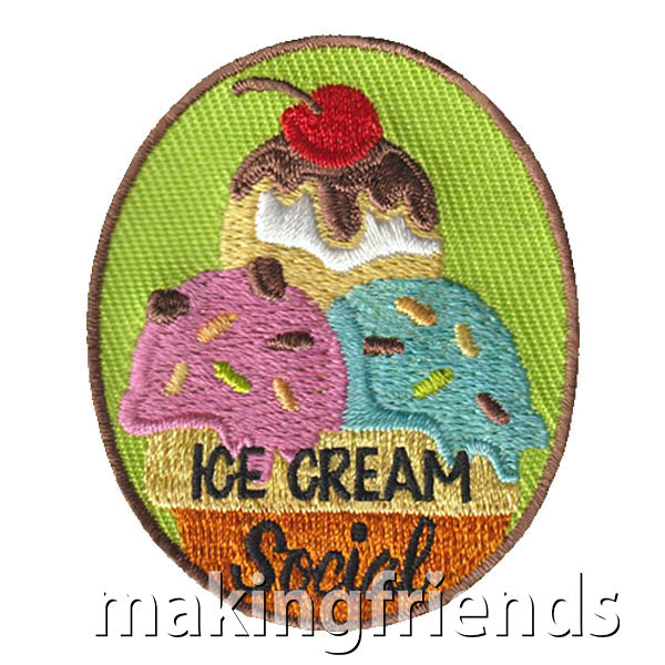 Girl Scout Ice Cream Social Fun Patch via @gsleader411