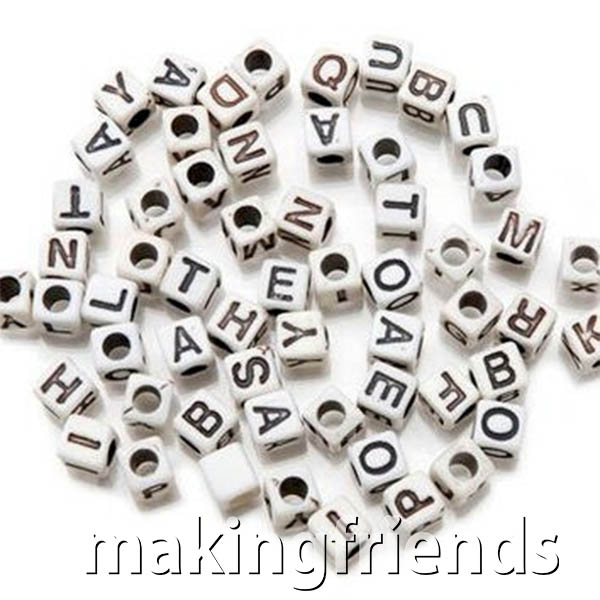 Letter Beads – CLEARANCE via @gsleader411