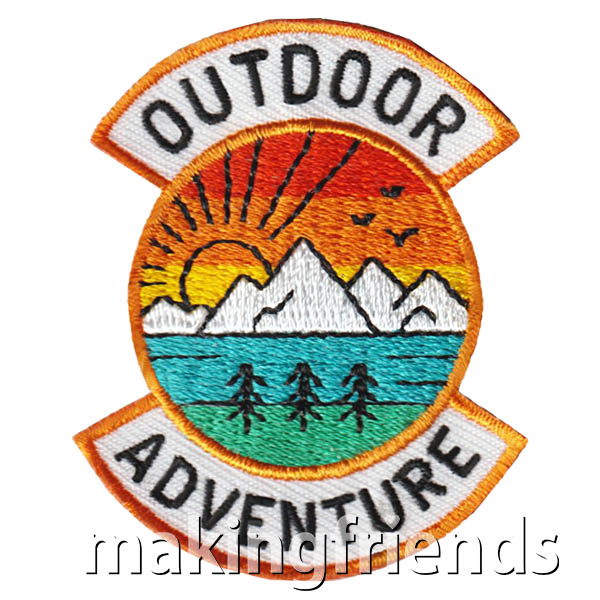 Outdoor Adventure Patch from MakingFriends®.com. How will your scouts earn the Outdoor Adventure Patch from MakingFriends®.com? #makingfriends #scoutpatches #funpatch #girlscouts #scouting via @gsleader411
