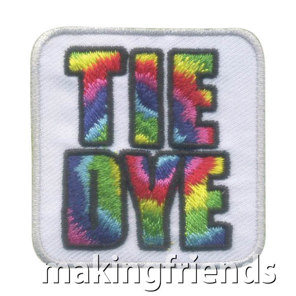 Girl Scout Tie Dye Fun Patch via @gsleader411