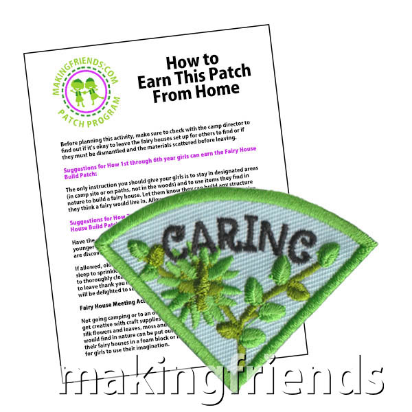 Caring: Character Building Patch Program® from MakingFriends®.com. Designed for any troop interested in reviewing the law. Our suggested requirements include opportunities for scouts of every level to put the law into practice with activities tailored for their age. #makingfriends #patchprogram #scoutpatches #girlscouts #scouts #juliettescouts #girlscoutlaw via @gsleader411