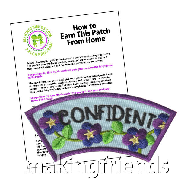 Confident: Character Building Patch Program® from MakingFriends®.com. Designed for any troop interested in reviewing the law. Our suggested requirements include opportunities for scouts of every level to put the law into practice with activities tailored for their age. #makingfriends #patchprogram #scoutpatches #girlscouts #scouts #juliettescouts #girlscoutlaw via @gsleader411