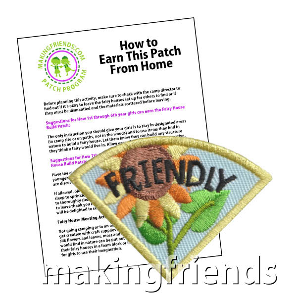 Friendly: Character Building Patch Program®. Designed for any troop interested in reviewing the law. Our suggested requirements include opportunities for scouts of every level to put the law into practice with activities tailored for their age. #makingfriends #patchprogram #scoutpatches #girlscouts #scouts #juliettescouts #girlscoutlaw via @gsleader411
