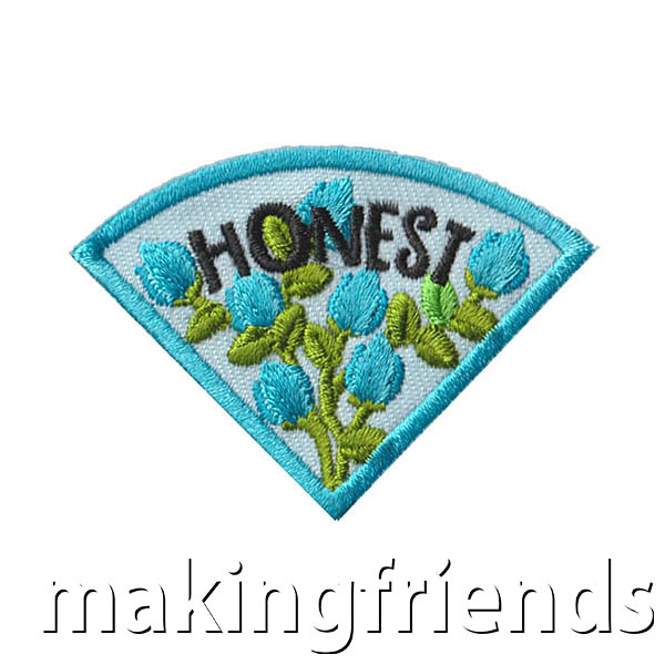 Honest: Character Building Patch Program® from MakingFriends®.com. Designed for any troop interested in reviewing the law. Our suggested requirements include opportunities for scouts of every level to put the law into practice with activities tailored for their age. #makingfriends #patchprogram #scoutpatches #girlscouts #scouts #juliettescouts #girlscoutlaw via @gsleader411