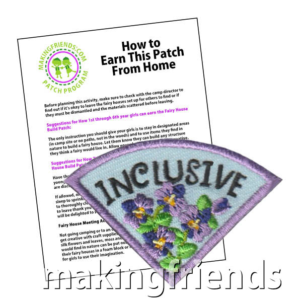Inclusive: Character Building Patch Program® from MakingFriends®.com. Designed for any troop interested in reviewing the law. Our suggested requirements include opportunities for scouts of every level to put the law into practice with activities tailored for their age. #makingfriends #patchprogram #scoutpatches #girlscouts #scouts #juliettescouts #girlscoutlaw via @gsleader411