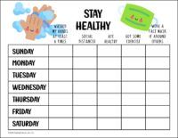 Stay Healthy Chart Covid-19 Awareness