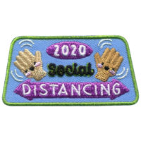 Girl Scout Social Distancing 2020 Fun Patch