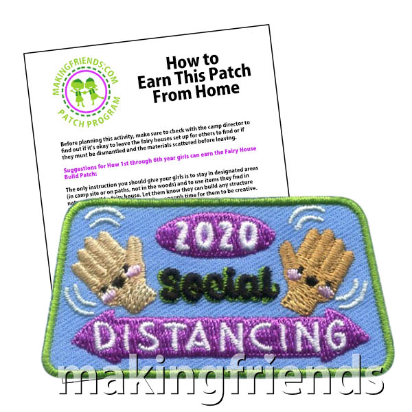 Social Distancing 2020 Patch Program® from MakingFriends®.com. Social Distancing can be a hard concept for many people to comprehend. Help your scouts earn the Social Distancing 2020 patch by learning what social distancing is and exploring fun ways to stay active while social distancing is necessary. Our suggested requirements include fun ways to practice standing 6 feet apart.  #makingfriends #patchprogram #scoutingfromhome #girlscouts #scouts via @gsleader411