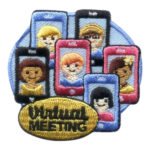 Girl Scout Virtual Meeting Fun Patch