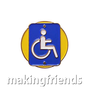 "The Accessibility Delegate Pin is from the Youth Squad Community Patch Program®. MakingFriends®.com partnered with Youth Squad to bring you a rewarding community service program with step-by-step instructions for every age level to make a meaningful impact in their community. This is one of our ""Delegate"" level pins. The requirements for our Delegate level provide teens with valuable life experience and a completed project to include on a resume or college application. via @gsleader411"