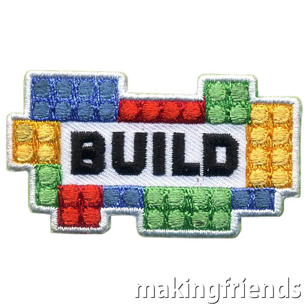 Build Patch from MakingFriends®.com. Your scouts will have fun building together and completing different challenges. There are so many fun ideas. Try some or our suggestions or the troop can come up with their own ideas. After the fun don't forget the Build Patch from MakingFriends®.com. #makingfriends #mf #scoutingfromhome #scoutpatches #girlscouts #scouts #juliettescouts via @gsleader411