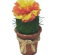 Girl Scout Cinco de Mayo cactus flower craft