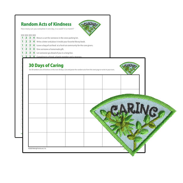 Girl Scout Caring Character Building Patch Program®