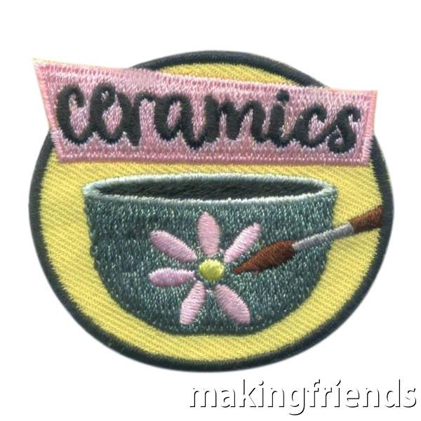 Girl Scout Ceramics Fun Patch via @gsleader411