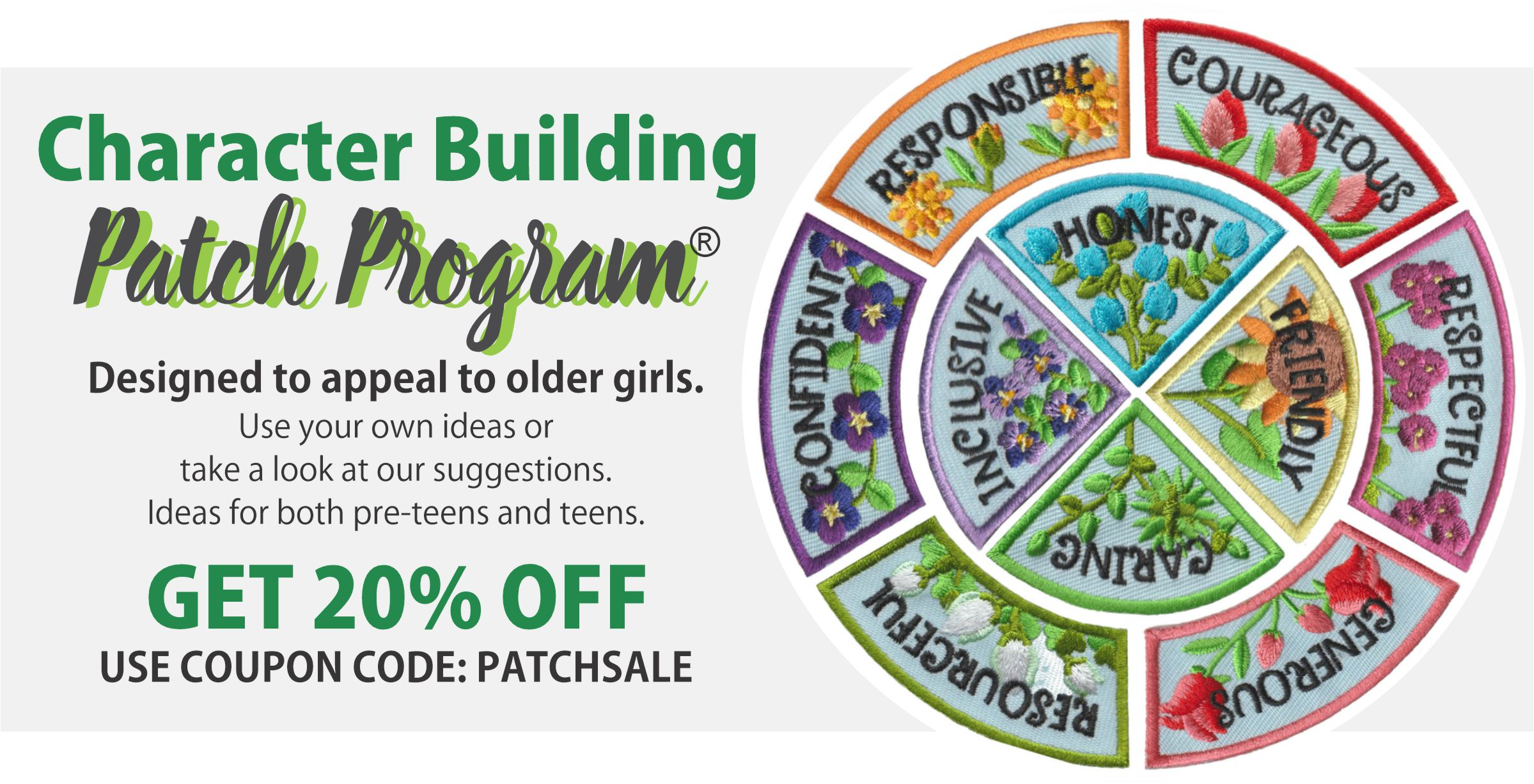 Girl Scout Character Building patch program group