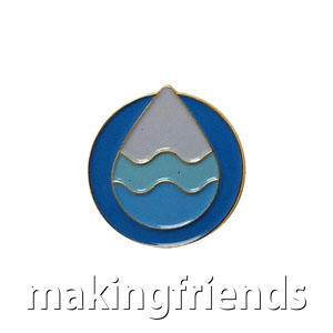 "The Clean Water Delegate Pin is from the Youth Squad Environmental Patch Program®. MakingFriends®.com partnered with Youth Squad to bring you a rewarding community service program with step-by-step instructions for every age level to make a meaningful impact in their community. This is one of our ""Delegate"" level pins. The requirements for our Delegate level provide teens with valuable life experience and a completed project to include on a resume or college application. via @gsleader411"