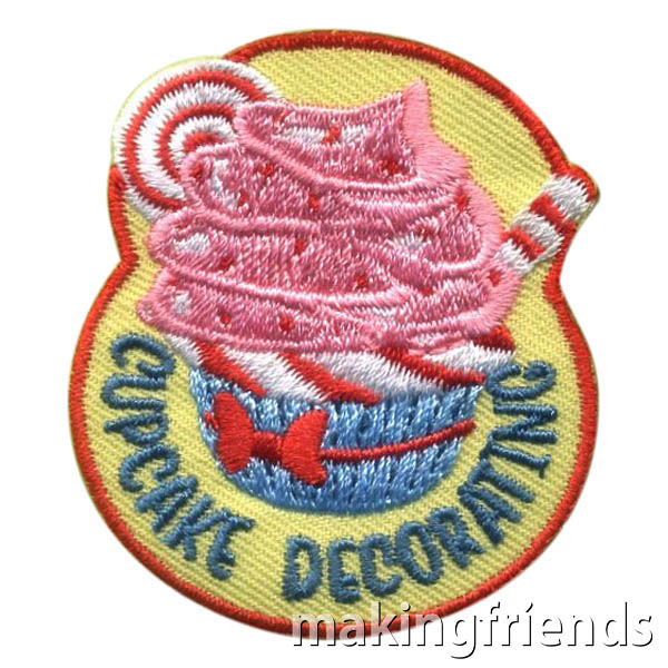 Girl Scout Cupcake Decorating Patch via @gsleader411