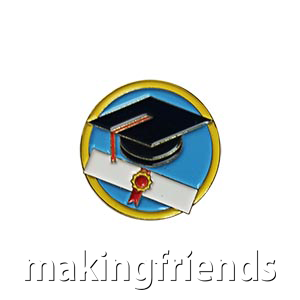 "The Education Delegate Pin is from the Youth Squad Outreach Patch Program®. MakingFriends®.com partnered with Youth Squad to bring you a rewarding community service program with step-by-step instructions for every age level to make a meaningful impact in their community. This is one of our ""Delegate"" level pins. The requirements for our Delegate level provide teens with valuable life experience and a completed project to include on a resume or college application. via @gsleader411"