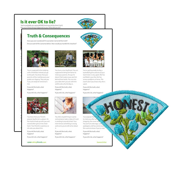 Girl Scout Honest Character Building Patch Program®