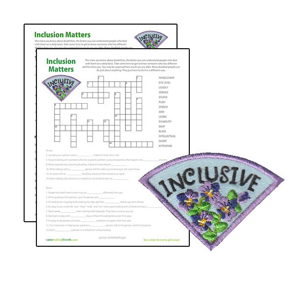 Girl Scout Inclusive Character Building Patch Program®