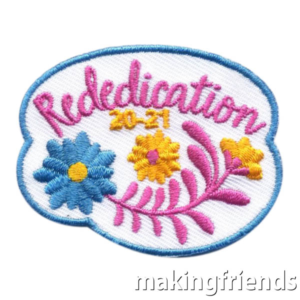 Girl Scout Rededication 2020-21 Fun Patch via @gsleader411