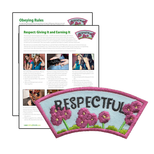 Respect Authority: Girl Scout Respectful Character Building Patch Program®