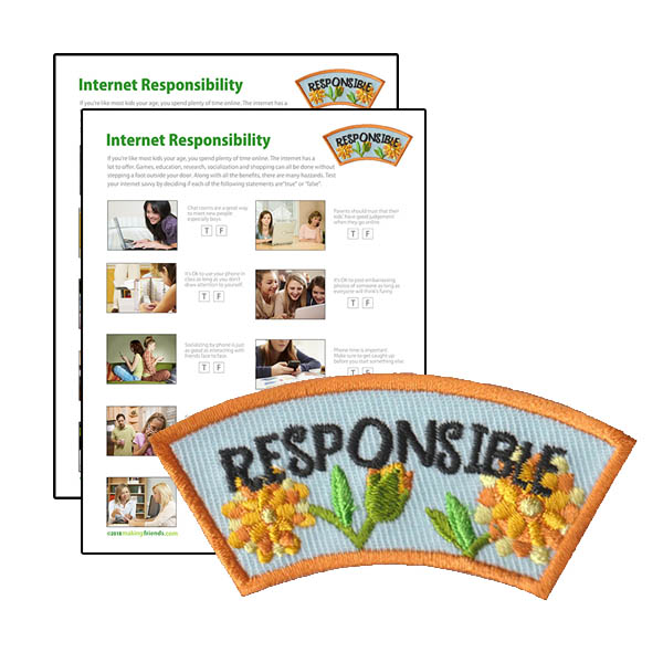 Girl Scout Responsible Character Building Patch Program®